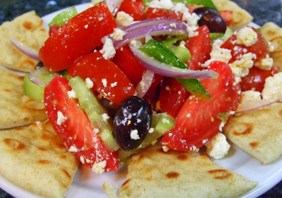 Horiatiki Greek Salad 300x214 Menu